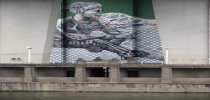 IMVG-streetart-Bilbao-Guggenheim-peace-bridge2
