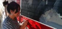 Zuriñe painting