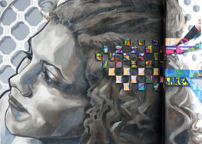 Día Escolar de la No Violencia y la Paz: mural Giltza bat en Bilbao