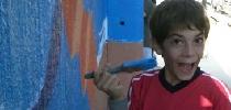 Pintando azul