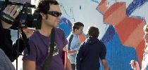 La ETB visita a los alumnos pintores
