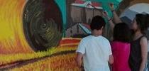 Pintado la pared!