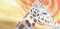 Jirafa y avestruz Africa