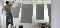 Preparando las telas