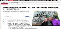 Estreno del nuevo mural de Zaramaga dedicado a los mayores